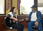 A Durham VAMC Provider works with a geriatric patient