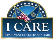 VA logo for Integrity, Commitment, Advocacy, Respect, Excellence, known as ICARE