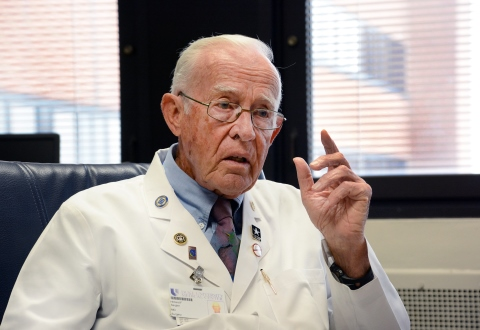 Dr. Hilliard Seigler relates a story from his career as a VA Surgical Researcher